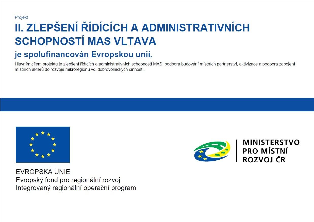 II. Zlepšení řídících a administrativních schopností MAS Vltava